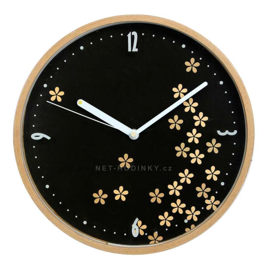 Hodiny nástěnné dřevěné (HDA9050.4), hodiny na zeď