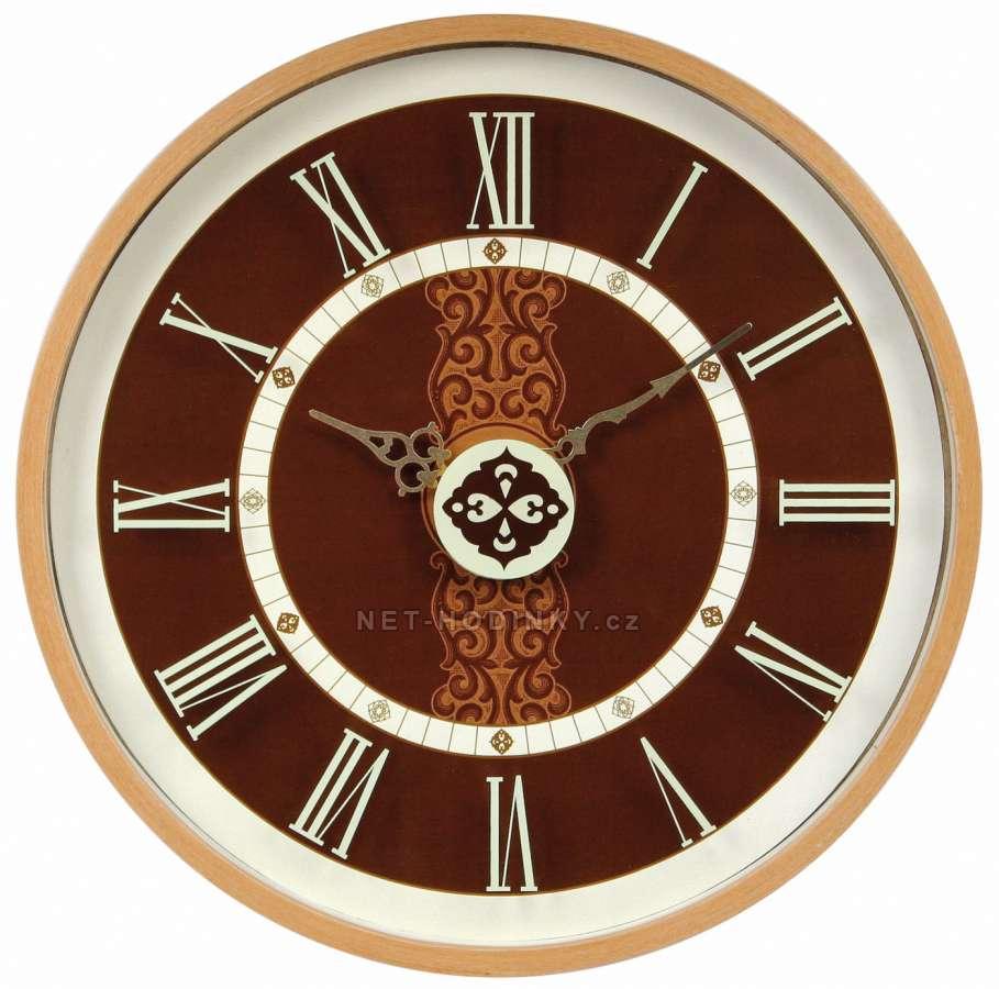 Hodiny nástěnné dřevěné (HDA9054.1 kulaté, hodiny na stěnu SWEEP