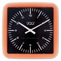 Nástěnné hodiny Hodiny nástěnné plastové (H5720R) oranžová, Hodiny nástěnné plastové (H5720V) fialová Nástěnné hodiny