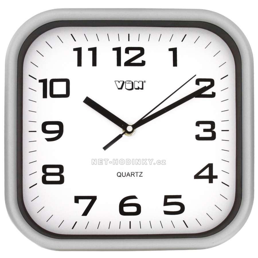 Nástěnné hodiny na stěnu, nástěnné hodiny na zeď H7260S stříbrná