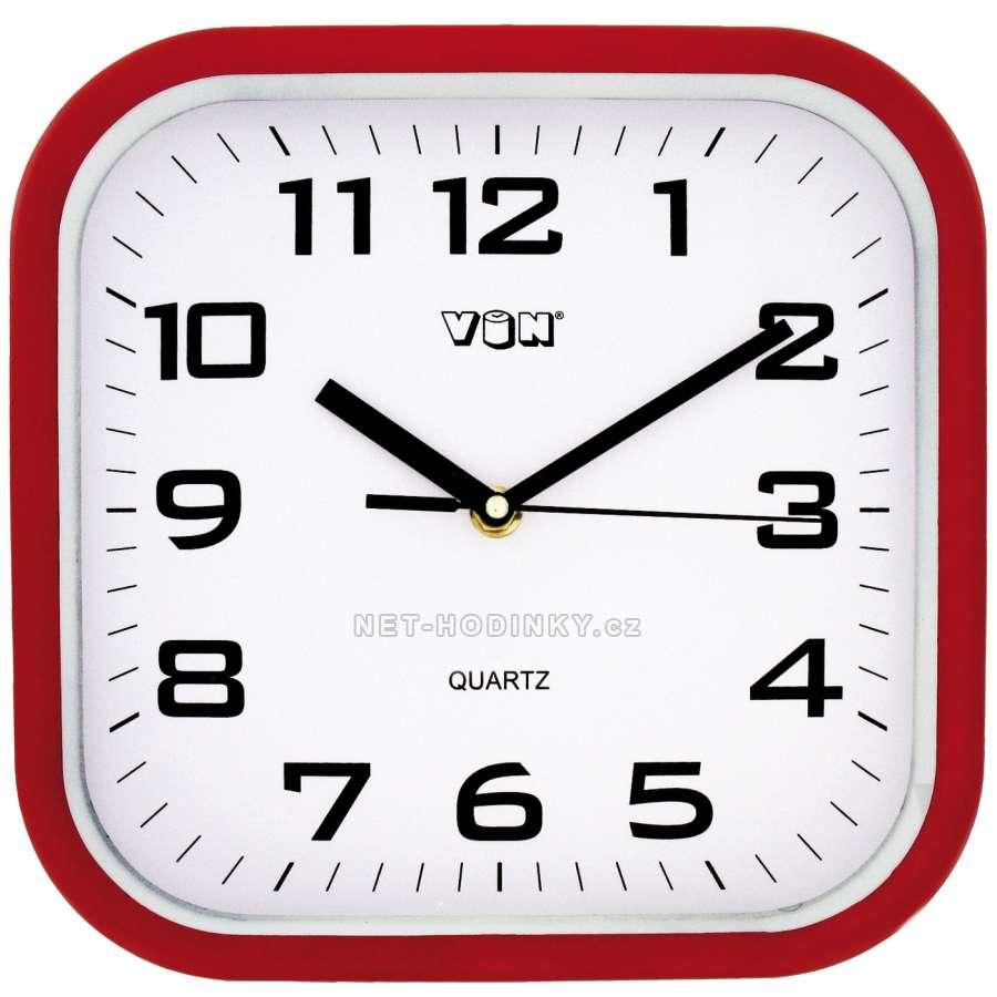 Nástěnné hodiny na stěnu, nástěnné hodiny na zeď H7260R červená
