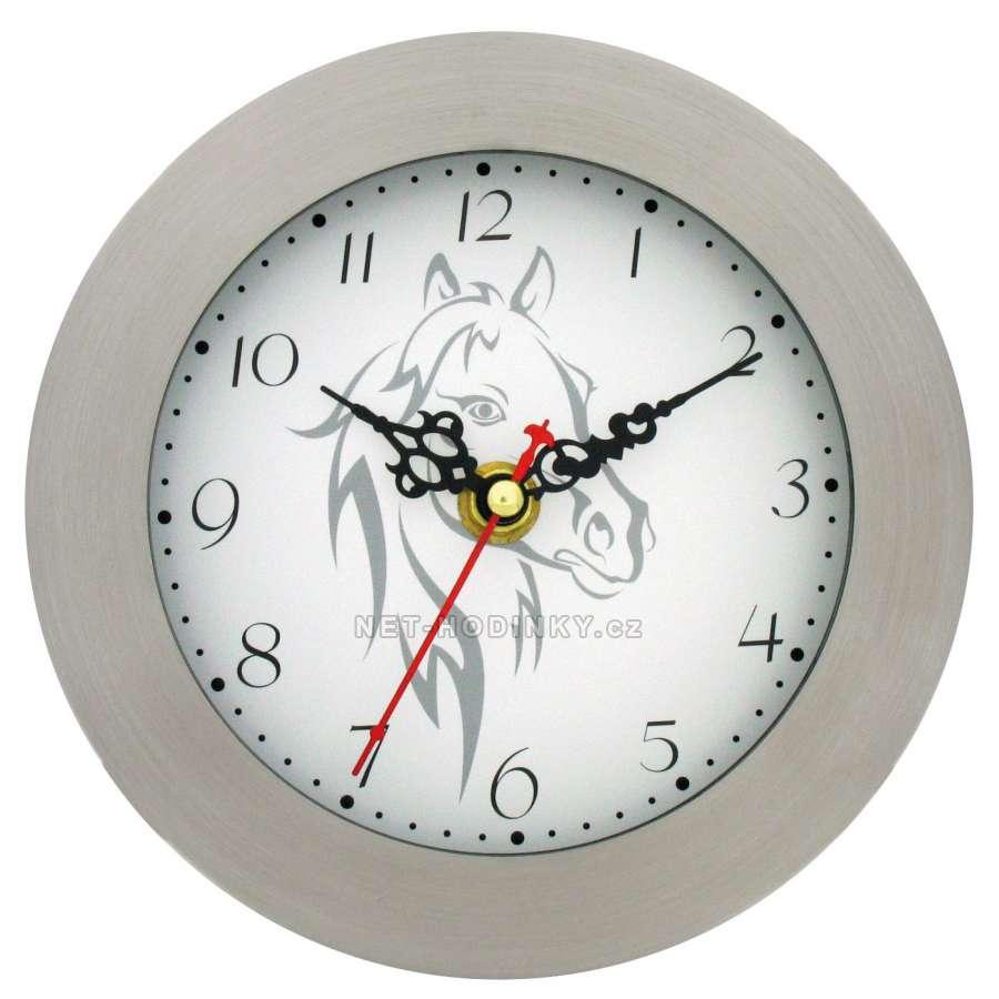 Nástěnné moderní hodiny - 3 varianty, hodiny na stěnu H6011A - koník