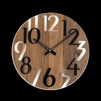 Hodiny JVD dřevo tmavé HT101.5