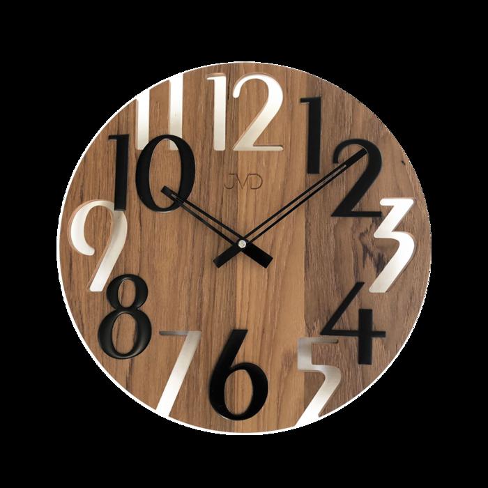 Nástěnné hodiny Hodiny JVD dřevo tmavé HT101.5 Nástěnné hodiny