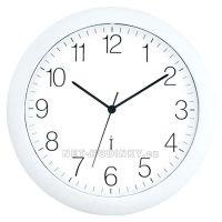 nástěnné hodiny bílá barva rádiem řízený čas