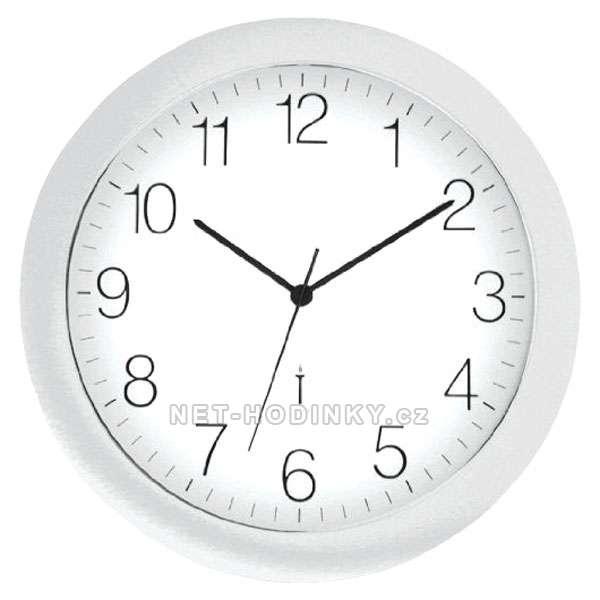 Nástěnné hodiny na stěnu, nástěnné hodiny na zeď, moderní hodiny stříbrná