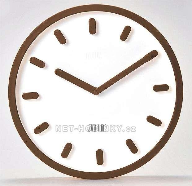 Nástěnné hodiny JVD TIME H81.1 H81.3 hnědá