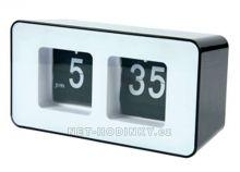 Retro hodiny basicXL s překlápěcími číslicemi černé