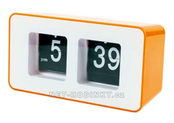 La Crosse Technology Retro hodiny basicXL s překlápěcími číslicemi černé, Retro hodiny basicXL s překlápěcími číslicemi oranžové Retro hodiny oranžové