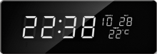 Digitální hodiny JVD bílá čísla DH2.3