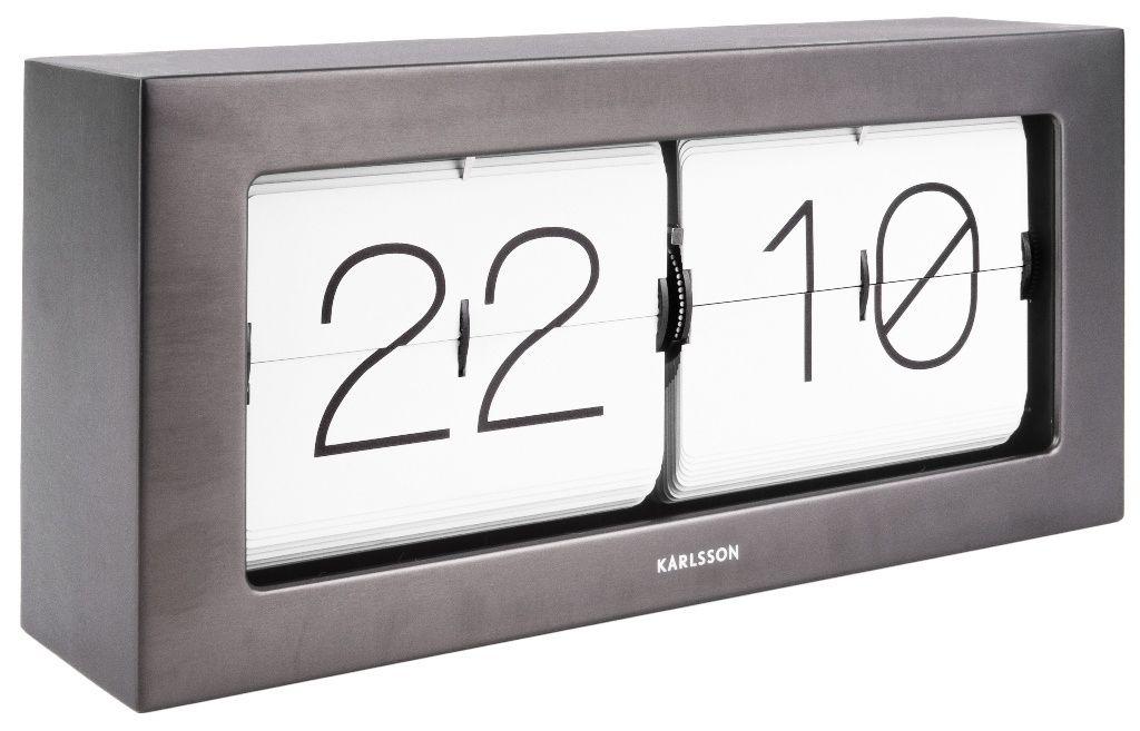 Designové nástěnné/stolní překlápěcí hodiny 5642GM Karlsson 37cm