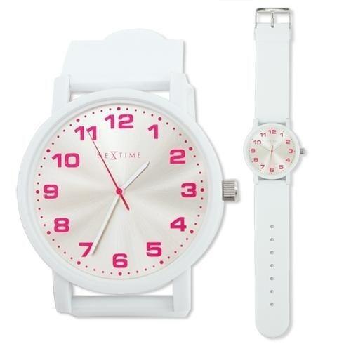 NeXtime Designové hodinky 6011 Nextime Dash White