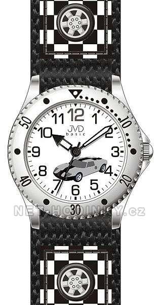 JVD Náramkové chlapecké hodinky J7126.1 modrá, J7126.2 šedá, J7126.3 červená J7126.2 šedé auto