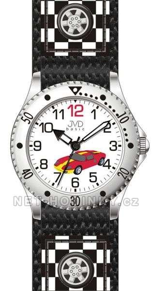 JVD Náramkové chlapecké hodinky J7126.1 modrá, J7126.2 šedá, J7126.3 červená J7126.3 červené auto