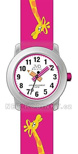 JVD Náramkové dětské hodinky J7121.1 růžová, J7121.2 modrá, J7121.3 bílá J7121.1 růžová