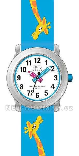 JVD Náramkové dětské hodinky J7121.1 růžová, J7121.2 modrá, J7121.3 bílá J7121.2 modrá