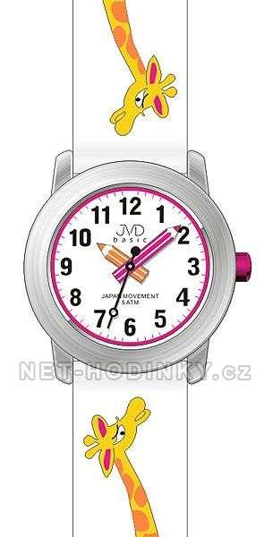 JVD Náramkové dětské hodinky J7121.1 růžová, J7121.2 modrá, J7121.3 bílá J7121.3 bílá
