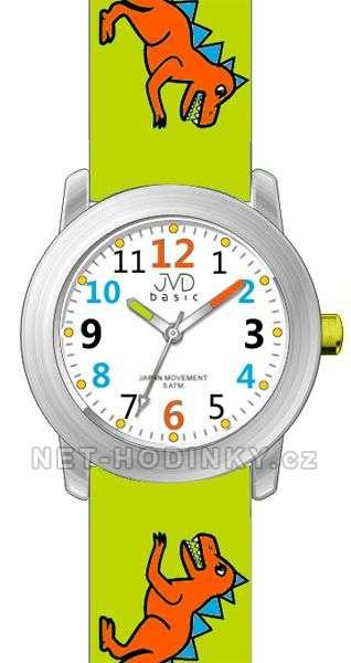 JVD Náramkové dětské hodinky J7123.1 tm. modrá, J7123.2 zelená, J7123.3 sv. modrá J7123.2 zelená