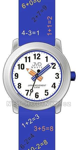JVD Náramkové dětské hodinky s koženým páskem J7120.1, J7120.2, J7120.3 J7120.2 modrá