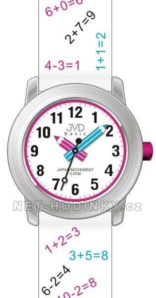 JVD Náramkové dětské hodinky s koženým páskem J7120.1, J7120.2, J7120.3 J7120.3 bílá