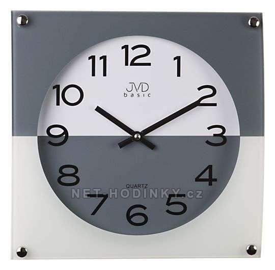 Nástěnné hodiny JVD N28114.1.1 červená, N28114.6 modrá, N28114.2 černá, N28114.3 šedá N28114.3.3