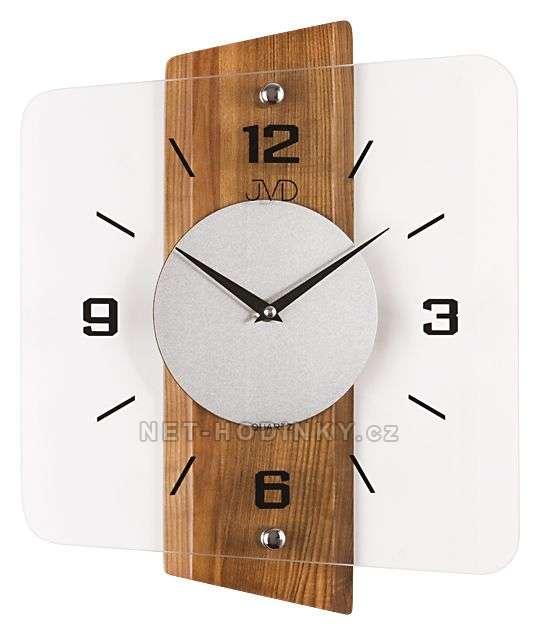 Nástěnné hodiny JVD quartz N20131.41.3, hodiny na zeď N20131.11.2 ořech