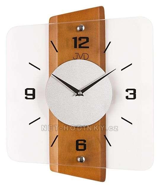 Nástěnné hodiny JVD quartz N20131.41.3, hodiny na zeď N20131.41.3 třešeň