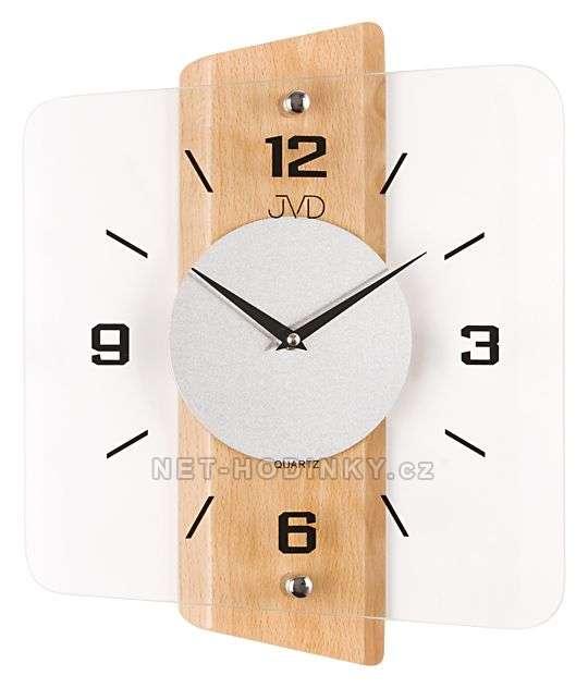 Nástěnné hodiny JVD quartz N20131.41.3, hodiny na zeď N20131.68.1 olše