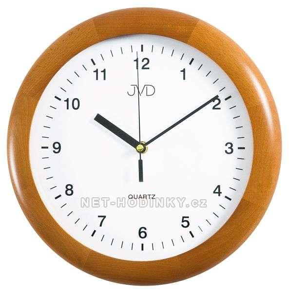 JVD Nástěnné hodiny na stěnu, nástěnné hodiny na zeď N2341.41.1 třešeň