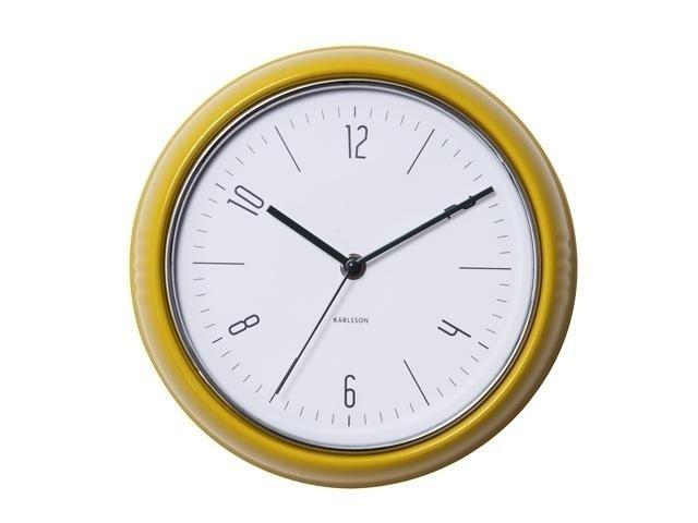 Designové nástěnné retro hodiny 5525YE Karlsson 25cm