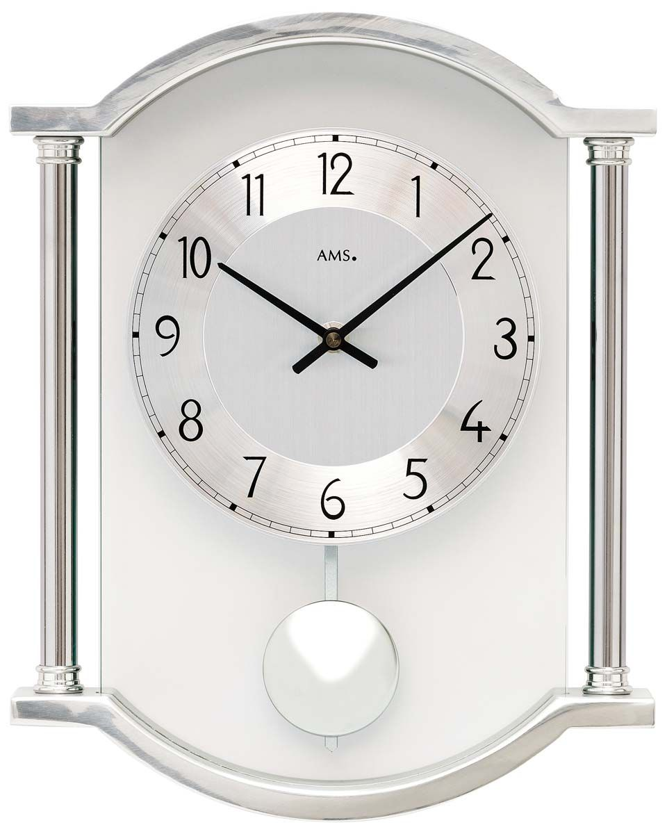 Kyvadlové hodiny AMS 7448 stříbrná