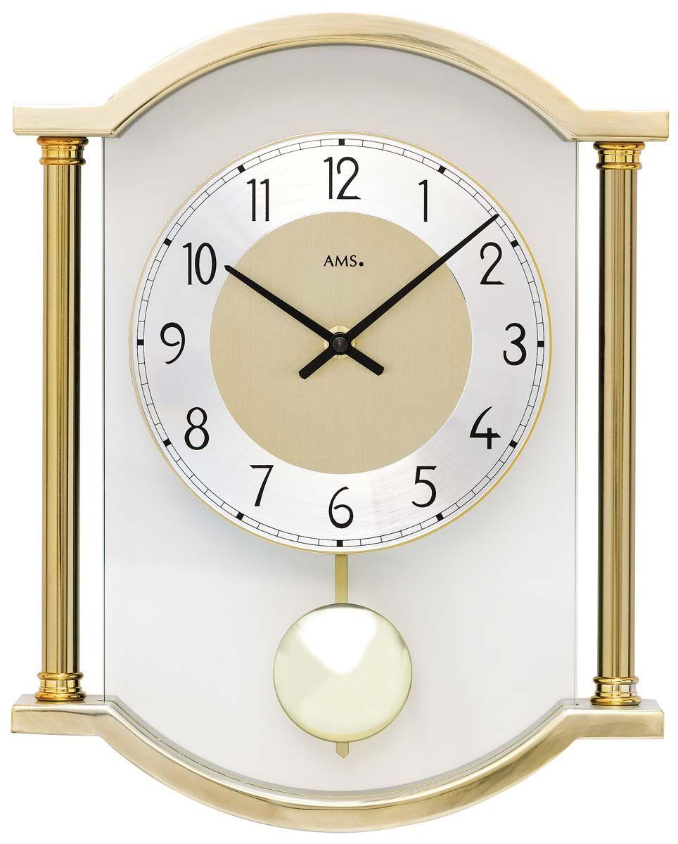 Kyvadlové hodiny AMS 7449 zlatá