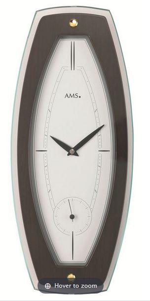 Nástěnné hodiny AMS 9357/1 ořech