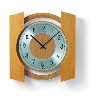 Nástěnné designové hodiny ams 5869/18 buk