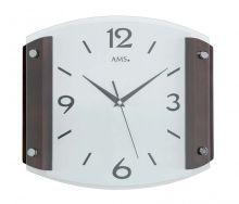Nástěnné hodiny ams 5938/1 ořech rádiem řízený čas