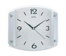 Nástěnné hodiny ams 5938 rádiem řízený čas stříbrná