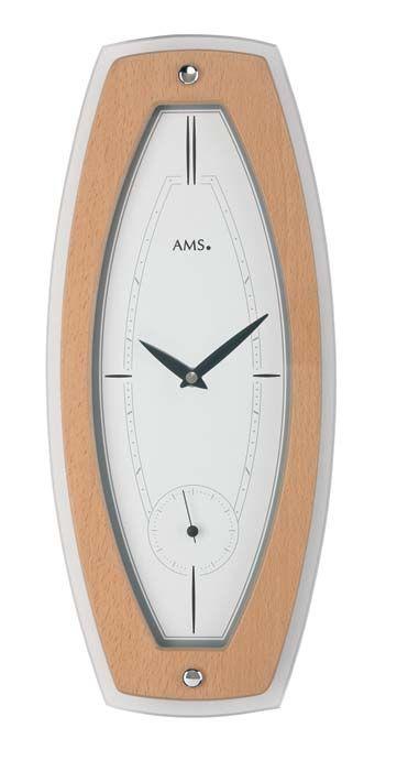 Moderní nástěnné hodiny ams 9357 buk