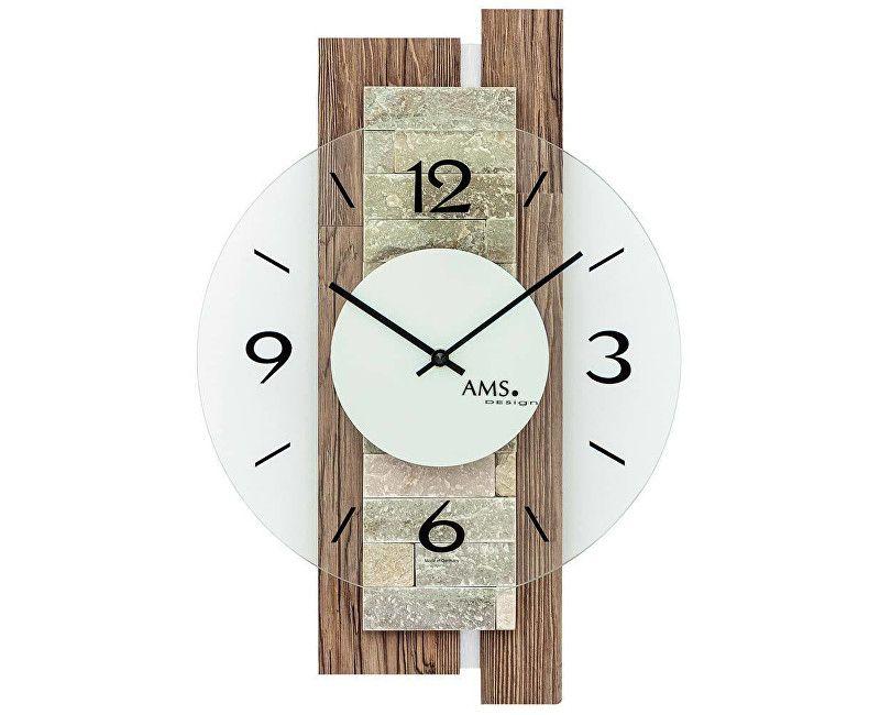 Nástěnné designové hodiny ams 9543.