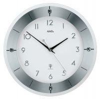 Nástěnné hodiny ams 5848 rádiem řízené bílá