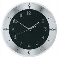 Nástěnné hodiny ams 5849 rádiem řízené černá