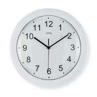 Nástěnné hodiny ams 5934 rádiem řízené bílá