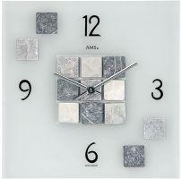Nástěnné hodiny designové ams 9276  sklo