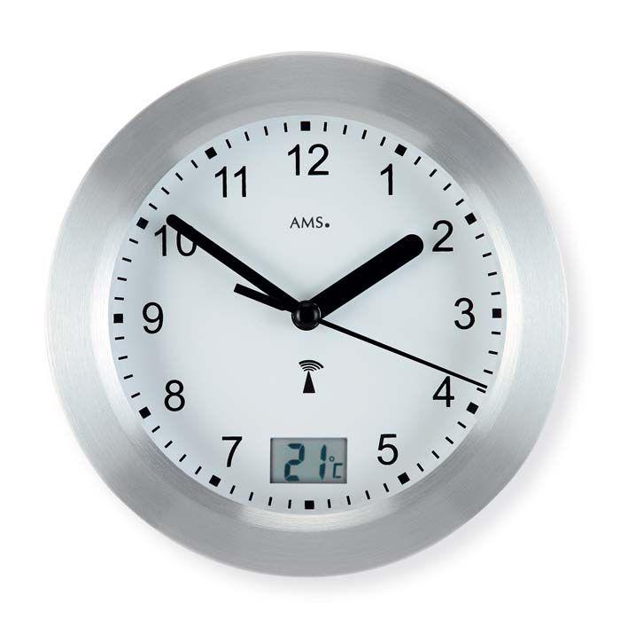 Nástěnné kulaté hodiny ams 5923 stříbrná barva