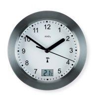 Nástěnné kulaté hodiny ams 5925 antracitová šedá