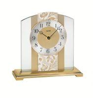 Stolní hodiny ams 1123 quartzové zlatá květy