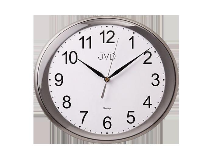 Nástěnné hodiny JVD sweep šedé HP664.2