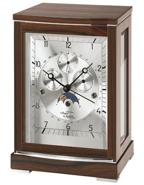 Stolní mechanické hodiny ams 2171/1 ořech