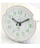 Budík Quartz JVD bílý-zelená čísla SRP877.2