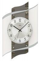 Designové nástěnné hodiny ams 5519 rádiem řízené dekor dřevo/hliník