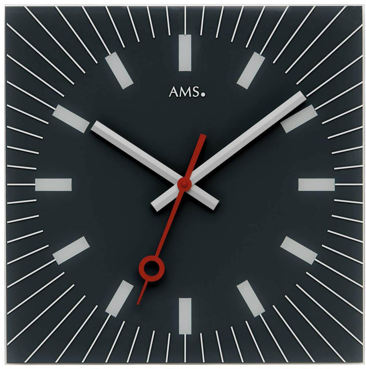 Nástěnné hodiny čtvercové ams 9575 černá